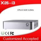 i3 desktop mini computer x25-i3 i3 3220 3.2Ghz mini tablet pc fan desktop thin client low heat no noise
