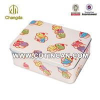 Rectangular Food Packaging Tin Box with icecream pattern CD-224