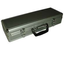 Sliver Aluminum Knife Handle Tool Case with Foam