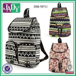 Wholesale vintage tribal fringe backpack korean cute canvas backpack for teenage girls