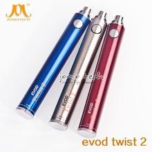 Jomo new coming e-cig battery for high quality name brand cigarette Evod-Twist II 2600mah