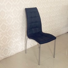 2014 most popular and cheap PU and chrome leg dining chair for hot sale