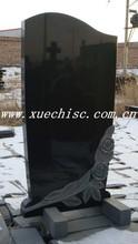 china shanxi black granite western style memorial headstones
