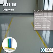 Haute résistance époxy résine peinture plancher roll prix de tuiles de plancher