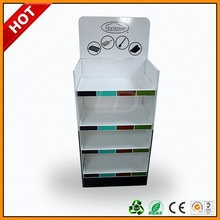 ubique paper floor display ,u shape corrugated display case ,tyre recycl stand