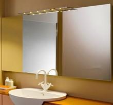 bathroom mirror with glass shelf