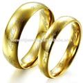 tono de oro de titanio de acero inoxidable dedo bandas anillo de pareja anillos de boda de banda