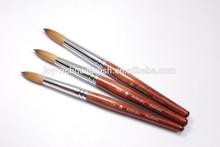 Wooden brush acrylic nail art brush supply(Round)