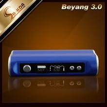 New coming electronic cigarette beyang 3.0 box mod 2200mah 30w original beyang 3.0 atomizer wholesale exgo w3