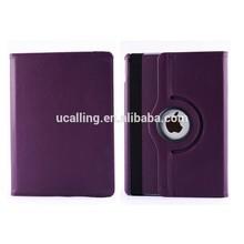 Factory Wholesale Plain Colored Rotating Leather Case For iPad Mini 2/3