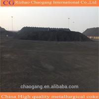 High carbon nut coke in blast furnace iron making