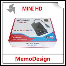 Original Satellite Dish TV Receiver AZCLASS MINI HD mini with IKS Nagra 3 CCcam For South America STB ( Set top box )