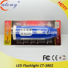 Hot Cheap Aluminum 9 LED Flashlight for promotion gift item