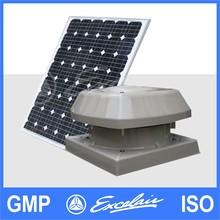 Solar power exhaust fan roof top exhaust fan industrial ventilation fan