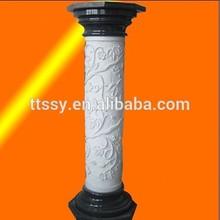 White marble roman column pedestal