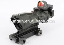SUNGUN Airsoft Trijicon 4x32 ACOG TA31 Type Cross Scope Riflescope w/ Fiber & Light Sensitive Scope Docter Red Dot Sight, GL 4X3
