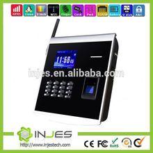 INJES Hot selling inbuilt backup battery Wifi/GPRS biometric fingerprint attendance applications with optional access control