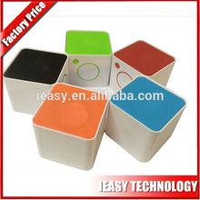 cheap portable mini speaker Plastic cube mini speaker, mini travel pack speaker, mini square speaker wholesale