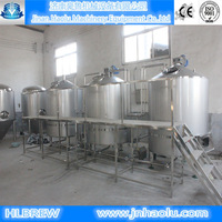 Turnkey beer brewery plant , barley,wheat beer brewing , Fermentation Processing brewery equipment