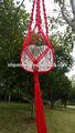 Colore rosso corda fatti a mano macramè grucce pianta/40in/decorativi da giardino/home grucce