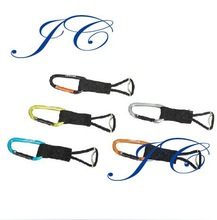 Fashion multitool aluminum carabiner with strap by supplier