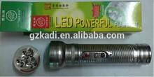 Tiger Head 3 LED 0.6 watt silver torch light LED Flashlight