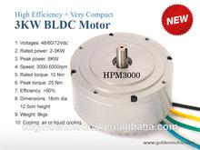 NEW!!!3kw 48V/60V/72V Fan cooling Blushless DC MOTOR with sine wave controller