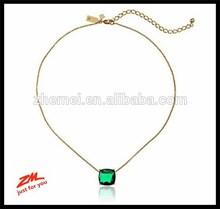 Cause A Stir Emerald-Tone Mini Pendant Necklace, 18 inch pendant necklace