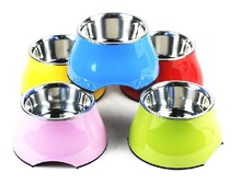 Pet Supplies Pet Products Skid-proof Multicolor Stainless Style Pet Bowl Small Sized