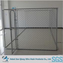 outdoor chain link dog run kennel