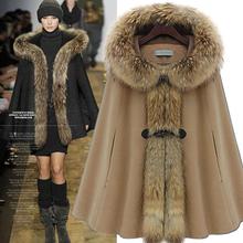 MS60367W women hot selling woolen high quality coat jacket women cape fur