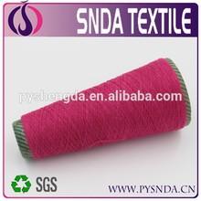 Ne12/2 twisted yarn wholesale open end twisted Color Yarn in fuschia
