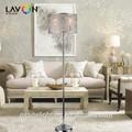 e14 3 luces de navidad de cristal de la lámpara de piso proveedor de china para el hotel y la casa