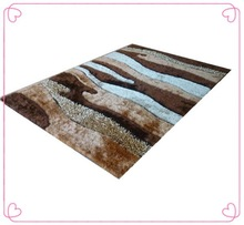 Striped Door Chinese Knot Add Silk Shaggy Children Synthetic Carpet