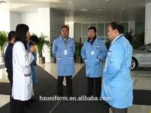 Hospital doctors work clothes white blue coat