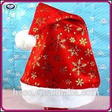 China Manufacturer Fashion Non-woven Fabric Snowflake Christmas Hat Decoration