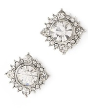Clear quartz stud earrings square burst crystal studs banquet jewelry