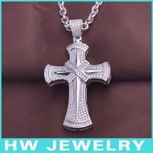 HWMCP1316 micro pave setting cross pendant jewellery
