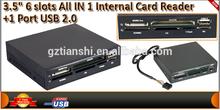 top selling mutil internal card reader,3.5'' all in one internal card reader
