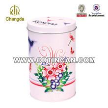 2014 wholesale metal tin can ,flower shaped metal tin can item No.CD - 032