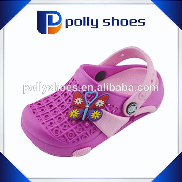 Cartoon garden clog,hole strap eva clog shoe,pink children garden clog