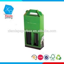 Corrugated cardboard paper wine carrier bag for 2 bottle