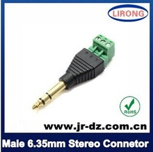 12v Terminal block 6.35mm male & female gender RCA Stereo connector
