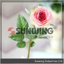 Cheap artificial flower, Artificial velvet rose flower, decorative artificial flower