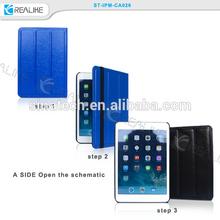 ,protective leather stand case for ipad mini 3,for ipad mini 3 foldable case