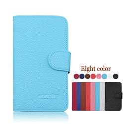 New Lychee Wallet PU Leather Case With Stand for Samsung Galaxy Core Max G5108Q
