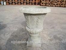 glass fiber urns frp urns antique stone urns outdoor flower planter
