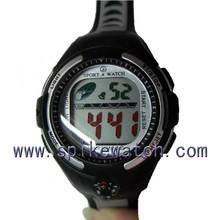 Outdoor sports unisex gender black plastic watch