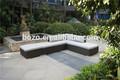 Popular pátio do rattan/venda quente sofá de canto conjunto/coarner moderno sofá com mesa de café