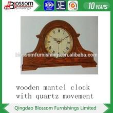 Shandong Yantai oak wood antique skeleten table clock